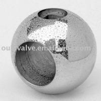 Trunnion valve ball