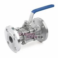 3PC Flange Stainless steel ball valve