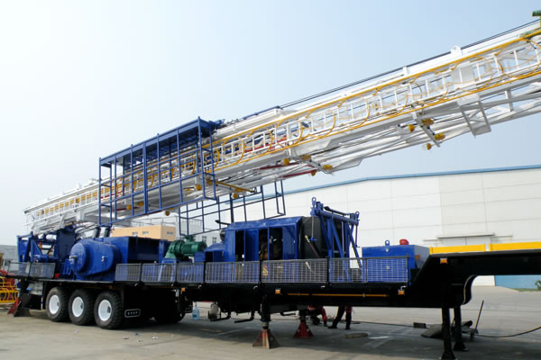 TZJ15 Trailer Mounted Drilling Rig